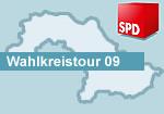 Grafik: Wahlkreistour 09 in den Landkreisen Lüneburg und Lüchow-Dannenberg