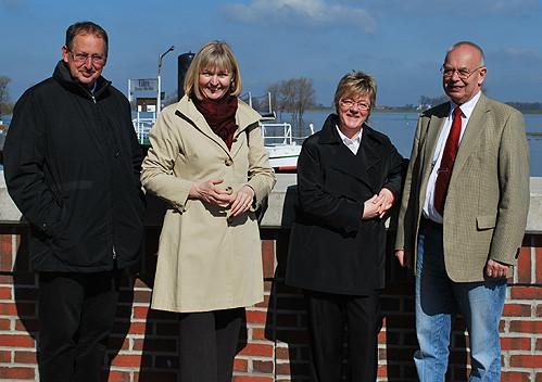 Foto (v.l.n.r.): Jürgen Meyer, Andrea Schröder-Ehlers, Hiltrud Lotze und Dr. Karl-Heinz Jastram