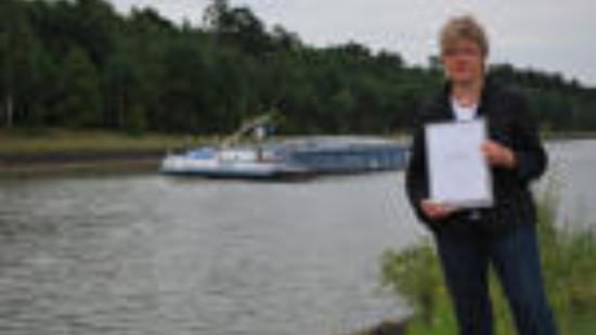 Foto: Hiltrud Lotze am Elbe-Seitenkanal