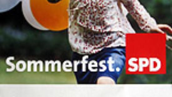 Sommerfest-Plakat der Lüneburger SPD