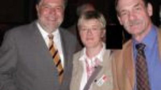 Kurt Beck mit Hiltrud Lotze und Bernd Fischer